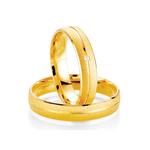 Par de Alianças de Casamento Istambul em Ouro 18k Com Diamante