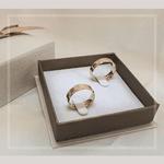 Par de Alianças de Casamento Baviera em Ouro 18k