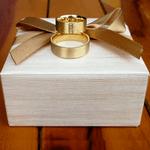 Par de Alianças de Casamento Marselha em Ouro 18k Com Diamante
