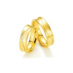 Par de Alianças de Casamento Estocolmo em Ouro 18k