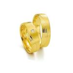Par de Alianças de Casamento Frankfurt em Ouro 18k Com Diamante