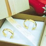 Par de Alianças de Casamento Génova em Ouro 18k Com Diamante