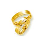 Par de Alianças de Casamento Roterdão em Ouro 18k Com Diamante
