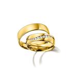 Par de Alianças de Casamento Las Palmas em Ouro 18k