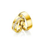 Par de Alianças de Casamento Bilbau em Ouro 18k Com Diamantes