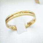 Par de Alianças de Casamento São Paulo em Ouro 18k Com Diamante
