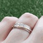 Par de Alianças de Bodas Liebe em Ouro Branco e Ouro Rosê 18k Com Diamantes