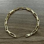 Pulseira Masculina Cartier Tipo G em Ouro 18k