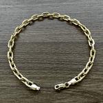 Pulseira Masculina Cartier Tipo GG em Ouro 18k