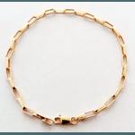 Pulseira Masculina Cartier Tipo P em Ouro 18k