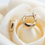 LINHA KIDS | Brinco Feminino Clássico de Argola em Ouro 18k