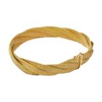 Pulseira Feminina em Tecido de Ouro Amarelo 18k