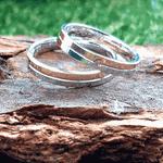 Par de Alianças de Bodas Promise em Ouro 18k Com Diamante