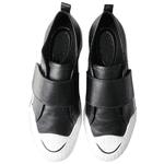 Tênis Fiorella Fechamento Em Velcro Preto Em Couro