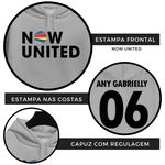 BLUSA MOLETOM NOW UNITED - ANY GABRIELLY - CINZA