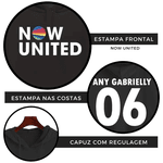 BLUSA MOLETOM NOW UNITED - ANY GABRIELLY - PRETO
