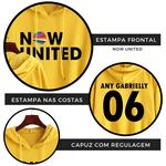 BLUSA MOLETOM NOW UNITED INFANTIL - ANY GABRIELLY - AMARELO