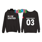 BLUSA MOLETOM NOW UNITED INFANTIL - SABINA - PRETO