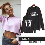 BLUSA MOLETOM NOW UNITED - SINA - PRETO