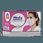 Máscara Descartável Tripla Medix Rosa c/ 50