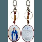 Chaveiro Madeira Oval de Nossa Senhora das Graças