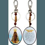 Chaveiro Madeira Oval de Nossa Senhora Aparecida