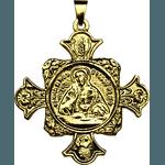 Medalha Cruz do Apostolado Dourada