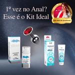 KIT ANAL INICIANTE | Dessensibilizante Cliv Intt + Plug Anal Diamante + Lubrificante Hidranal