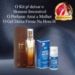 KIT ATRAÇÃO FATAL | Perfume Masculino atraí o sexo oposto + Super Macho Gel potencializador de ereção