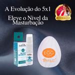 Kit Masturbação Masculina   EGG Masturbador De Silicone + Melhor Intensidade Lubrificante a base de Silicone