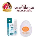 Masturbador De Silicone Egg + Lubrificante Melhor Intensidade / Kit MasturbaÇÃo Masculina