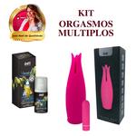 Vibration Power Vodka com Energético + Vibrador Tulipa / KIT ORGASMOS MÚLTIPLOS