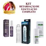 Prolong + Retarder + Capa Peniana (Aumenta 3cm) / KIT RETARDADOR DE EJACULAÇÃO COMPLETO