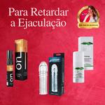 KIT RETARDADOR DE EJACULAÇÃO COMPLETO / Prolong + ON Dessensibilizante + Capa Peniana com ponta