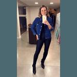 Jaqueta Jeans Moleton