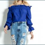 Blusa Ombro a Ombro Laise Azul