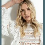 Blusa Off White Lace