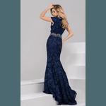 Vestido Guiper Azul Marinho