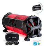 Caixa de Som Amplificada Bluetooth Bazuka Xb650 Polyvox 200w + Fone Intra-auricular TWS Bluetooth Polyvox