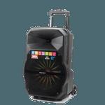 Kit Show Polyvox com Caixa Amplificada XC-512 + Tripé para Caixa + Microfone com Fio + Pedestal para Microfone com Suporte para Celular