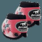 Cloche Boots Horse - Estampa 25 / Velcro rosa