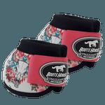 Cloche Boots Horse - Estampa 27 / Velcro rosa