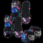 Kit Completo Boots Horse Color Cloche e Boleteira Dianteira e Traseira - Estampa 24 / velcro preto
