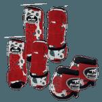 Kit Completo Boots Horse Color Cloche e Boleteira Dianteira e Traseira - Estampa 26 / velcro vermelho