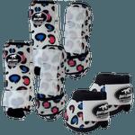 Kit Completo Boots Horse Color Cloche e Boleteira Dianteira e Traseira - Estampa 30 / velcro branco