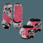 Kit Simples Color Boots Horse Cloche e Boleteira- Estampa 25 / velcro rosa