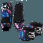 Kit Simples Color Boots Horse Cloche e Boleteira- Estampa 24 / velcro preto (1298)
