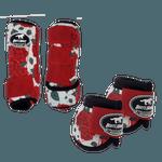 Kit Simples Color Boots Horse Cloche e Boleteira- Estampa 26 / Velcro vermelho (1298)