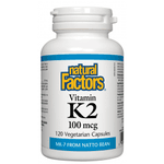 Vitamina K2 - Natural Factors - 100mcg 120 cápsulas