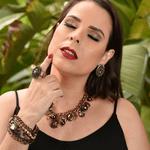 COD13215 ANEL VINTAGE COM PEDRAS BLACK COLEÇÃO LIBERTE-SE